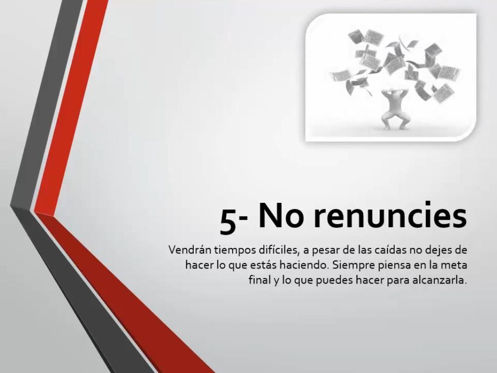 No renuncies
