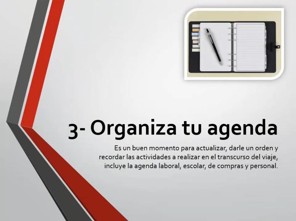 Organiza tu agenda