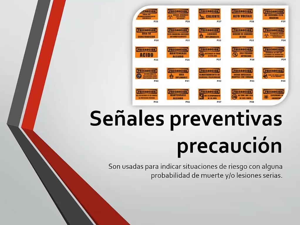 Señales preventivas precaución