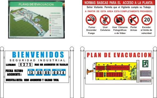 Instructivos y planos de evacuación