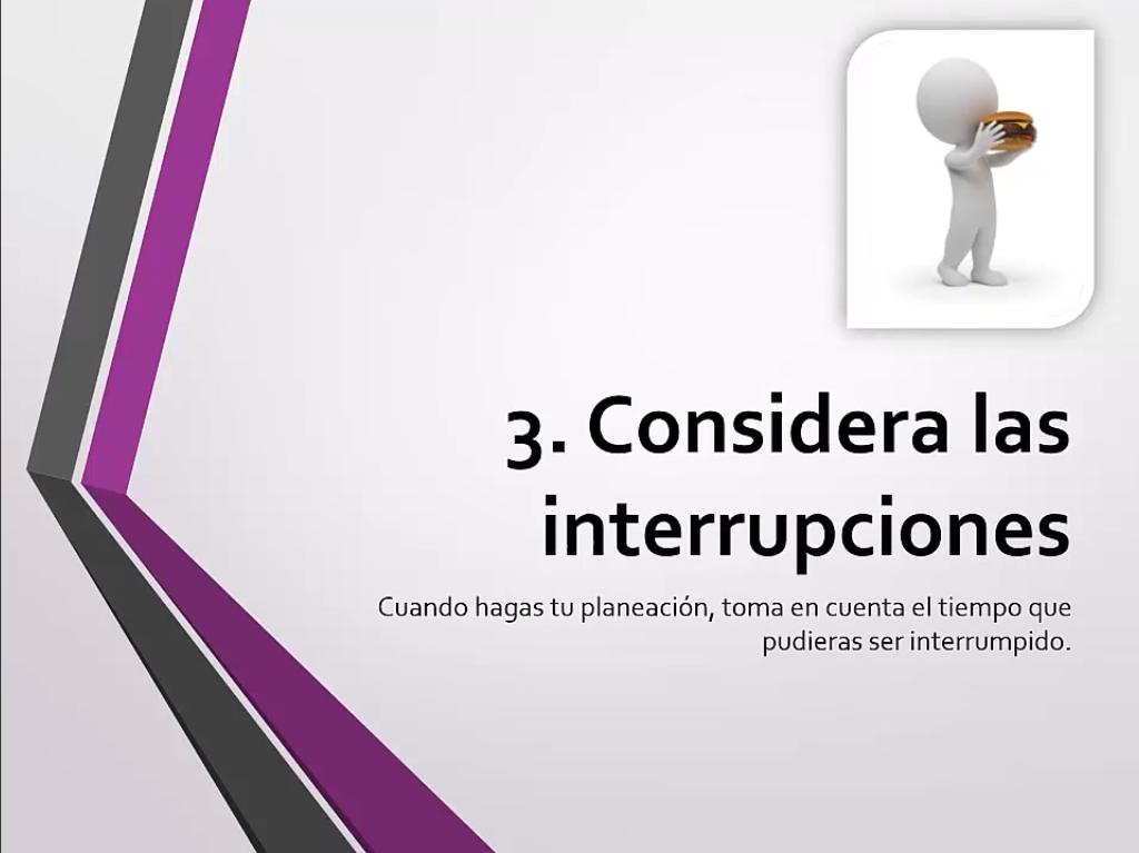 Considera las interrupciones