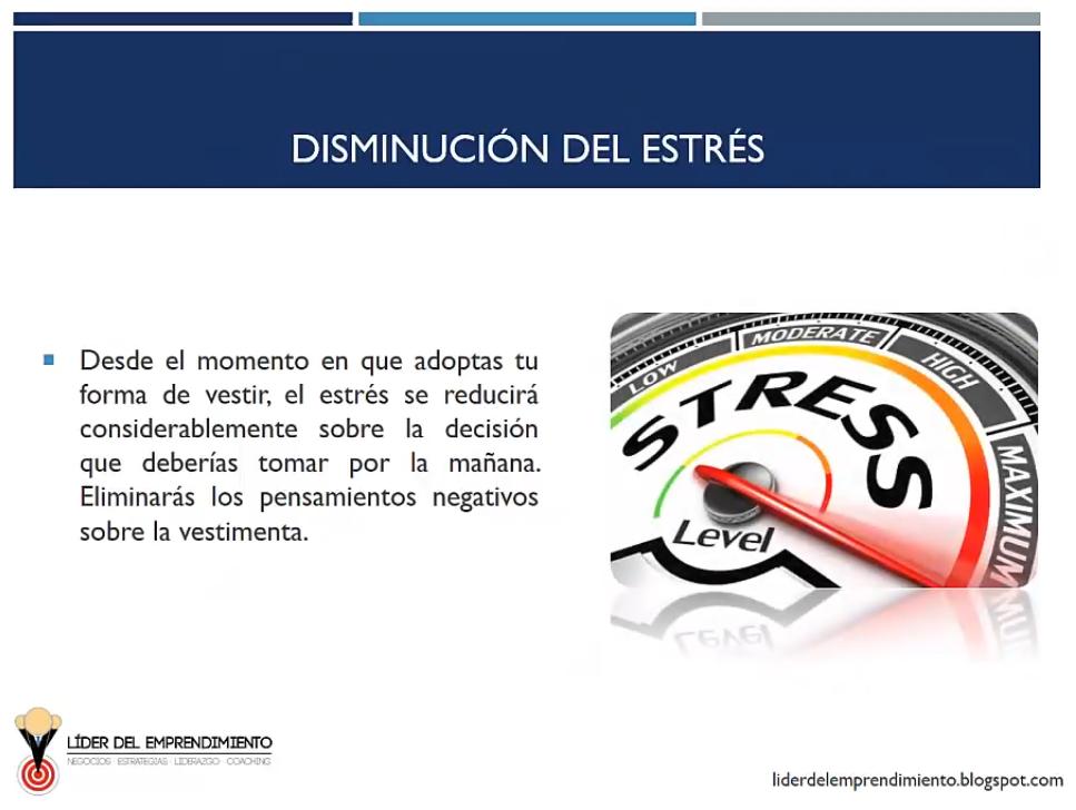 Disminución del estrés
