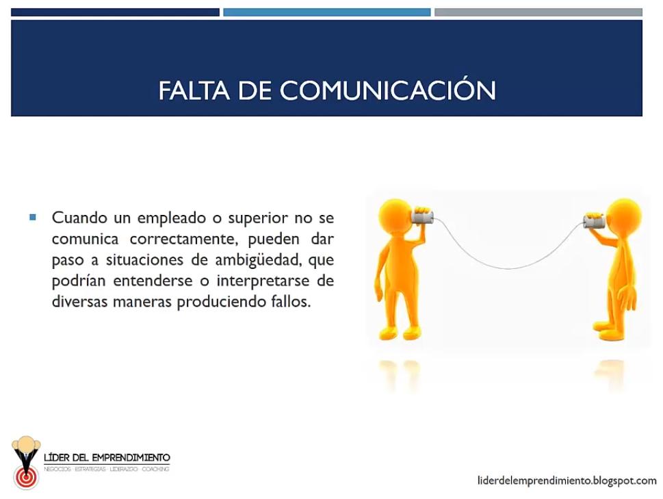 Falta de comunicación