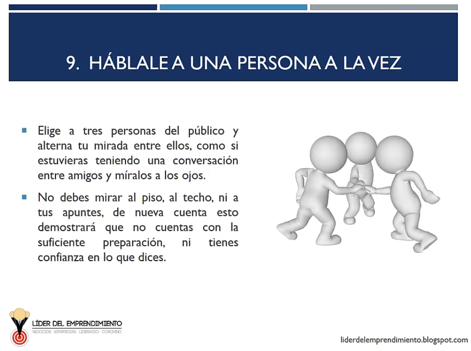 Háblale a una persona a la vez