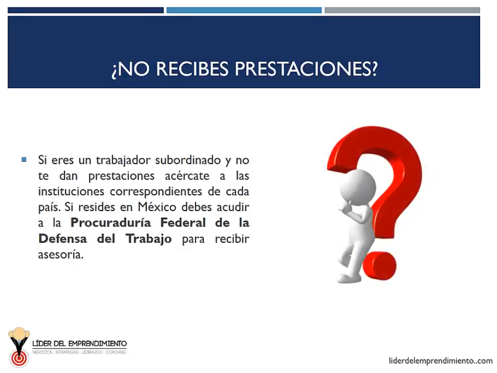 No recibes prestaciones laborales