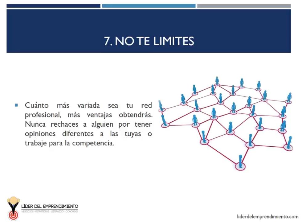 No te limites al hacer networking