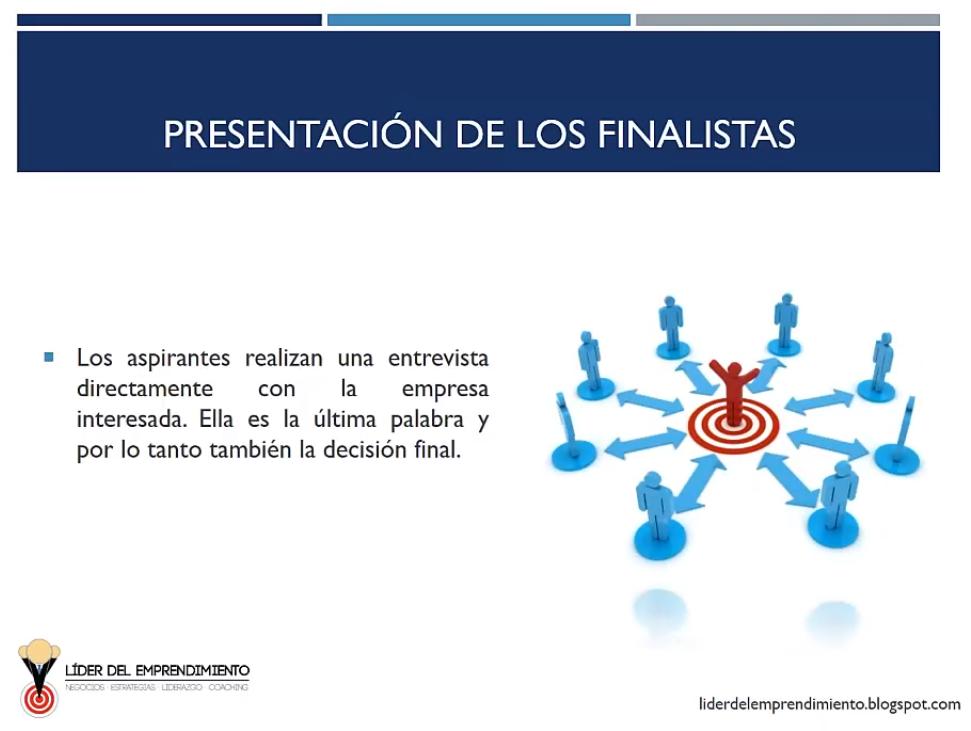 Presentación de los finalistas
