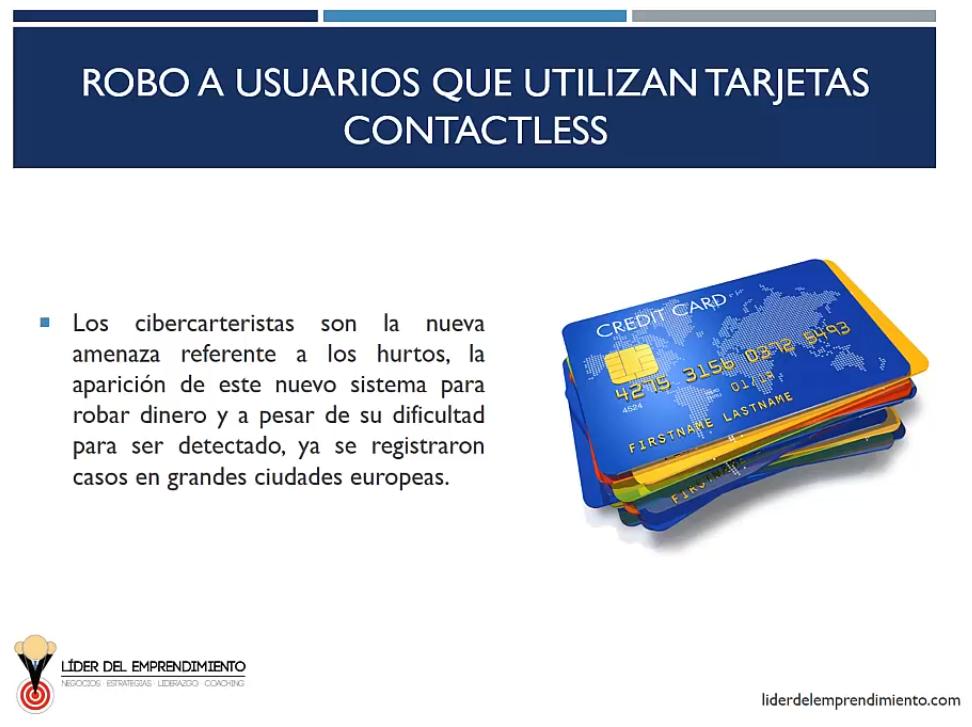 Robo a usuarios que utilizan tarjetas contacless