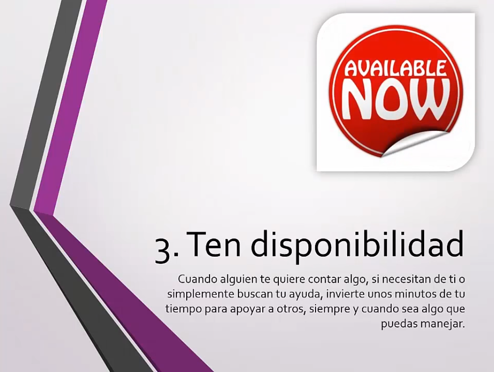 Ten disponibilidad