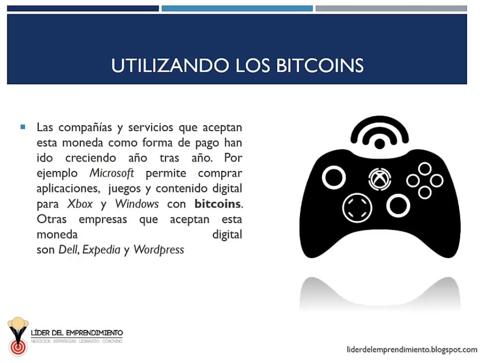 Utilizando los bitcoins