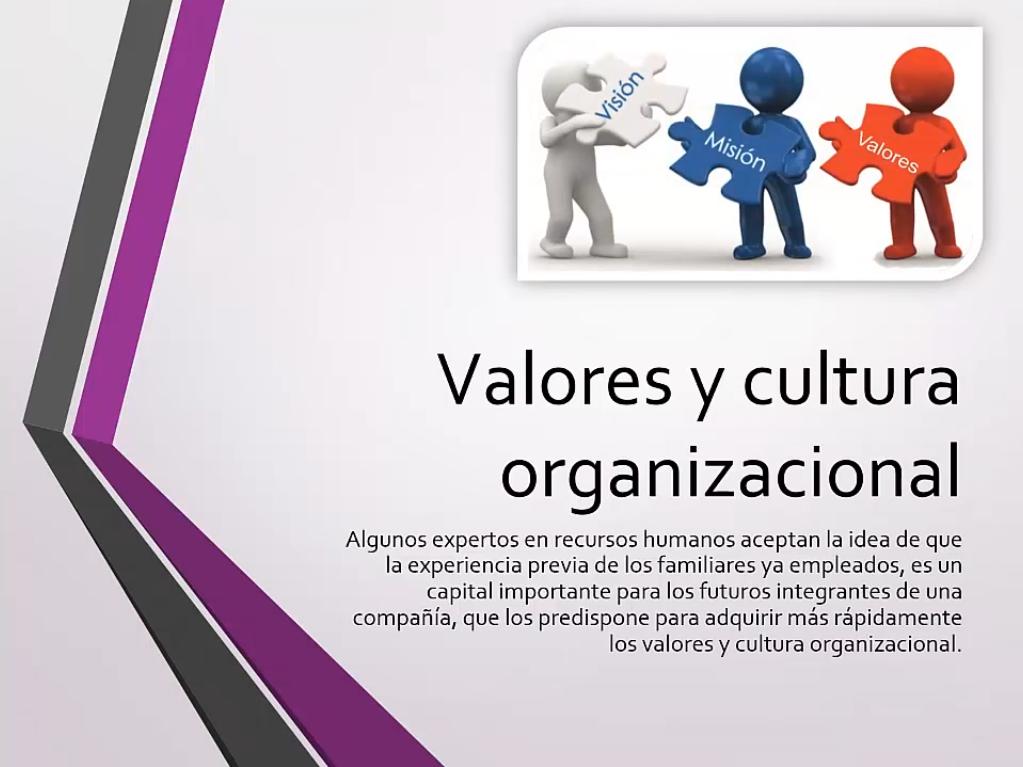 Valores y cultura organizacional