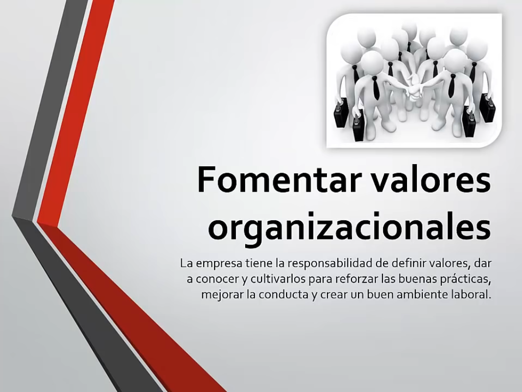 Fomentar valores organizacionales