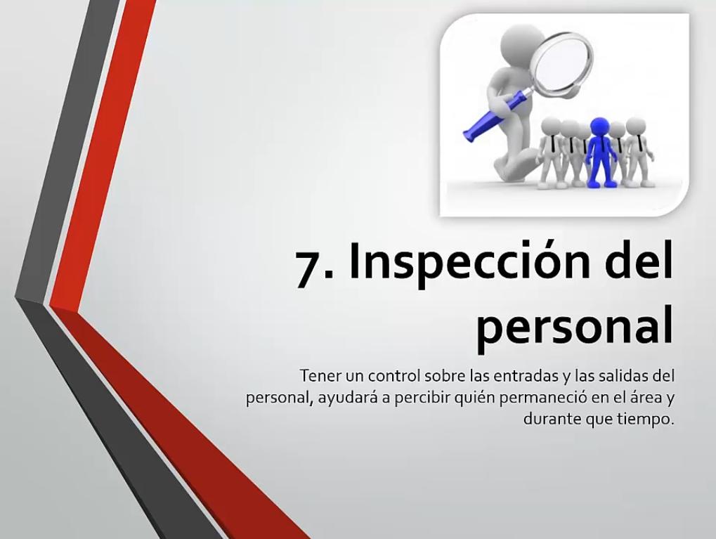 Inspección del personal