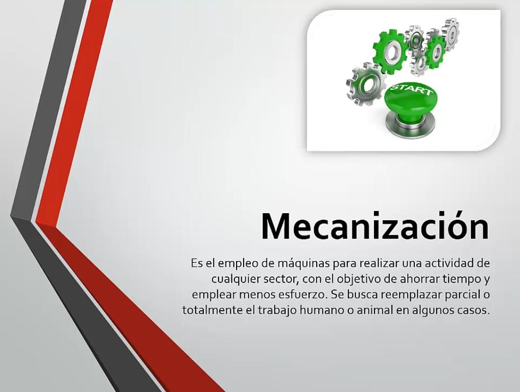 La mecanización