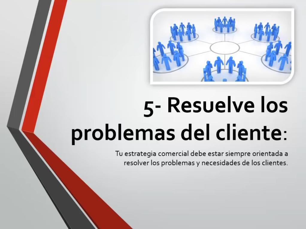Resuelve los problemas del cliente