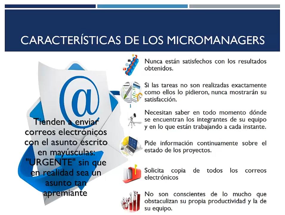 Características de los micromanagers