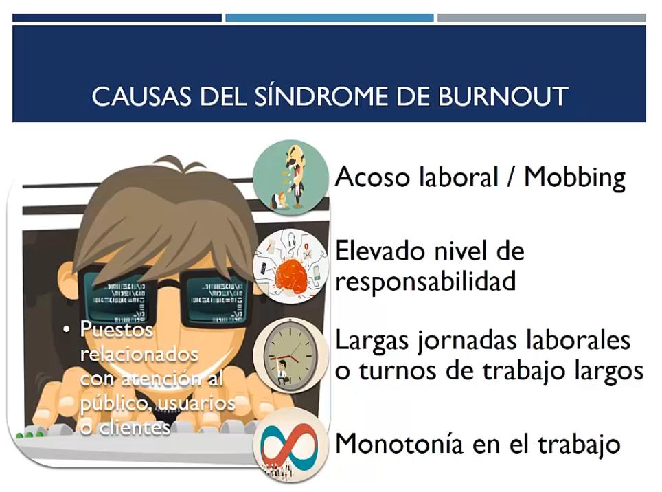 Causas del síndrome de burnout