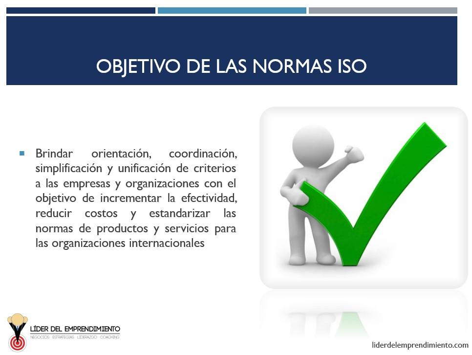 Objetivo de las normas ISO