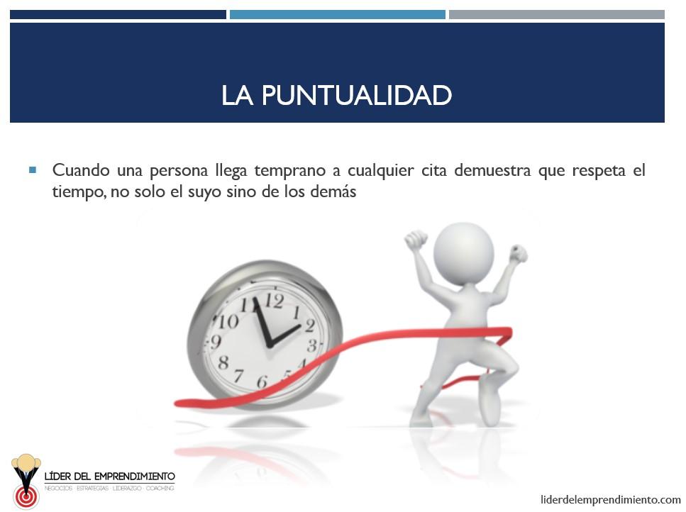 La puntualidad