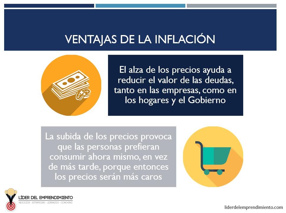 Ventajas de la inflación