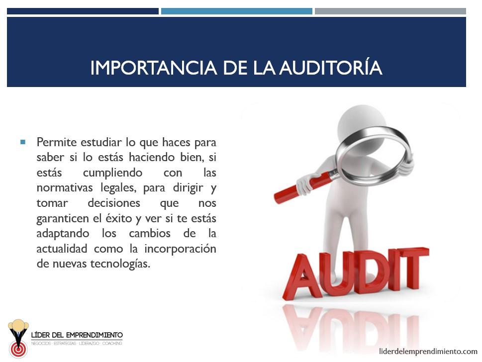 Importancia de la auditoría