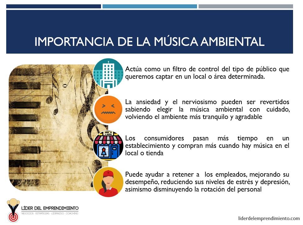 Importancia de la música ambiental