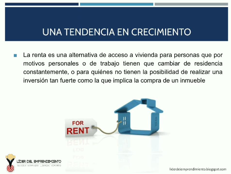 La renta de viviendas, una tendencia en crecimiento