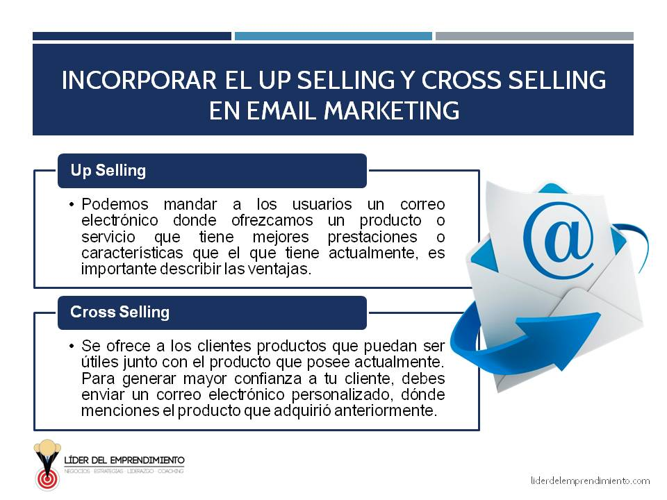 Incorporando el Up Selling y Cross Selling en Email Marketing