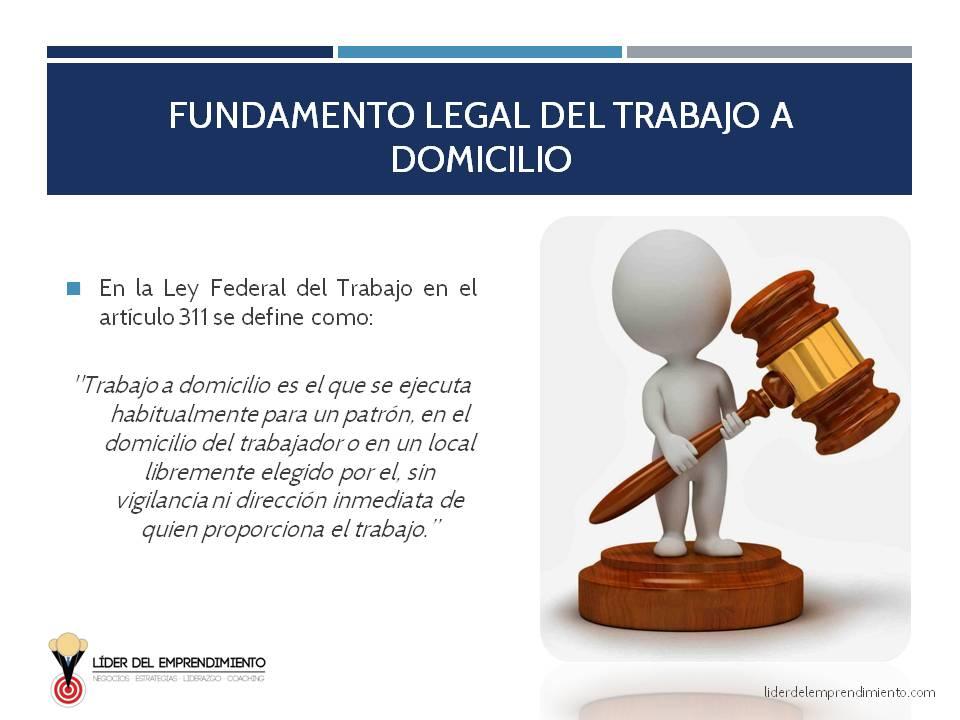 Fundamento legal del trabajo a domicilio