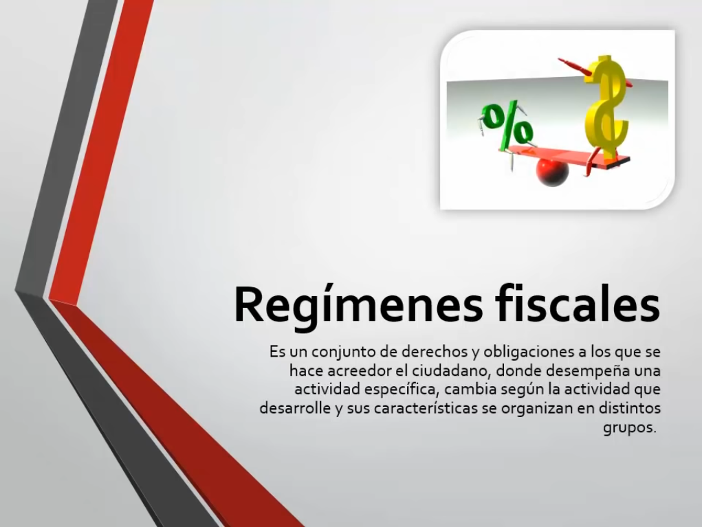 Regímenes fiscales
